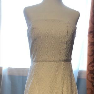 The Limited White strapless dress